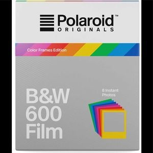Retro Polaroid 600 B&W Film: Color Frames-Works